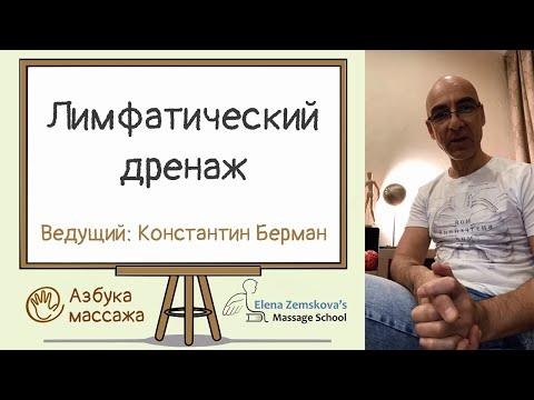 Лимфодренажный массаж   Константин Берман   Азбука массажа