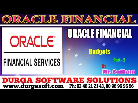 Oracle Finacial||online training|| Budgets part-2 by SaiRam - YouTube
