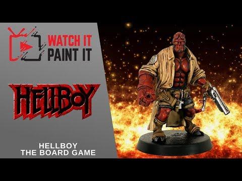 Hellboy the Board Game - Painting Hellboy