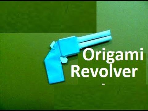 Origami Revolver:Easy Paper Folding Revolver||Origami Pocket Mini Gun Making Training for beginners