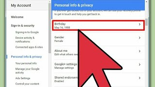 change google Account Age Android