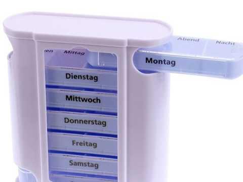 Osma Pillendose-Pillenbox-Tablettendose-Tablettenbox Tower