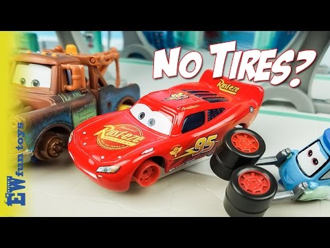 Disney Pixar Cars Diecast Toys Part 23  Mcqueen Mater No Tires New カーズ 2017