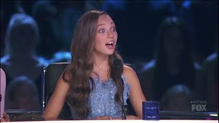 Maddie Ziegler Judging And At Rehearsals On SYTYCD: THE NEXT GENERATION! (S13,E6) HD