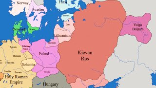 Границы европейских государств с 1019 по 2000 год
