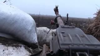 Новые кадры жестоких боёв на Донбассе декабрь 2016