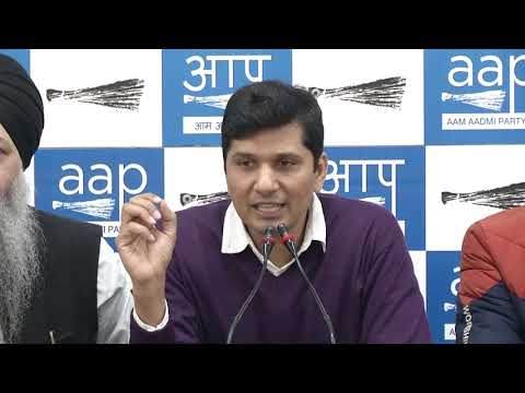 AAP Chief Spokesperson along with AAP MLA's Briefed on Sajjan Kumar Conviction in 1984 Riots