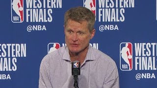 Steve Kerr Postgame Interview - Game 3 | Rockets vs Warriors | May 20, 2018 | 2018 NBA West Finals - Video Youtube