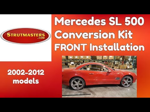 2003-2006 Mercedes SL 500 With An Air Suspension Conversion By Strutmasters / Front Install Video