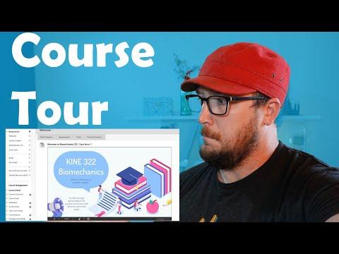 A Blackboard tour of my Fall 2020 online Biomechanics course ...