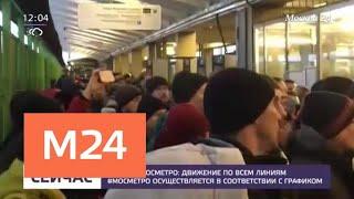 Движение поездов на всех ветках метро ввели в график - Москва 24
