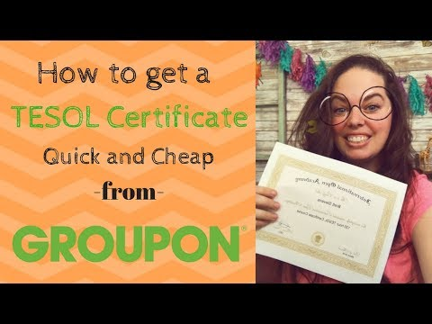 How to get a TESOL Certification quick and cheap! - YouTube