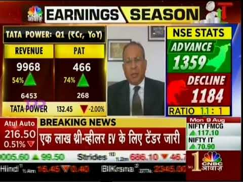 Dr Praveer Sinha, CEO & MD, Tata Power discusses the Tata Power Q1 FY2022 results with CNBC Awaaz