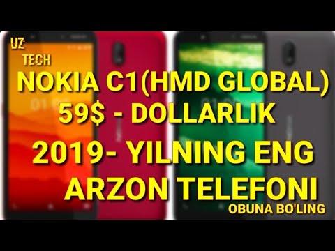 NOKIA C1 - O'ZBEK TILIDA /59$ -DOLLARLIK TELEFON