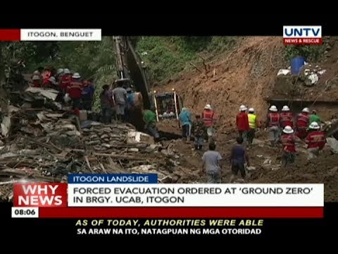[UNTV]  Forced evacuation ordered at 'ground zero' in Brgy. Ucab, Itogon