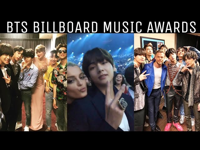 180521 BTS With Other Celebrities | Billboard Music Awards 2018