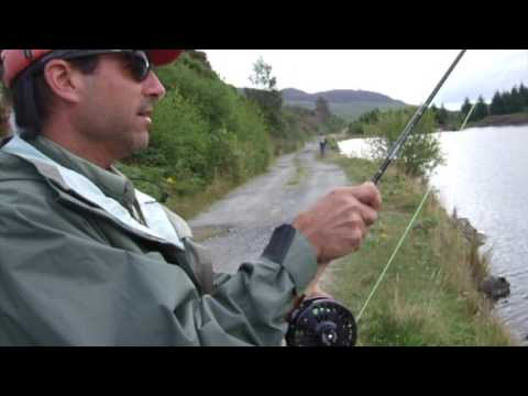 USA guest - brown trout fishing in Scotland with son