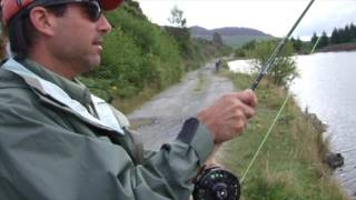 USA guest - trout fishing Scotland with son