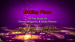 Porter Wagoner & Dolly Parton - Making Plans  (Backing Track)