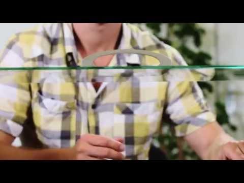Griff auf Glasscheibe kleben
