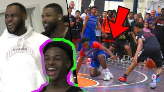 LeBron's 15U Squad SHUTS IT DOWN! NASTY Poster + ANKLE BREAKER! Strive For Greatness VS GORILLAS