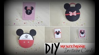 DIY Mickey/Minnie Invitation Cards   Praveen Kaur   DIY  Art And Craft Ideas
