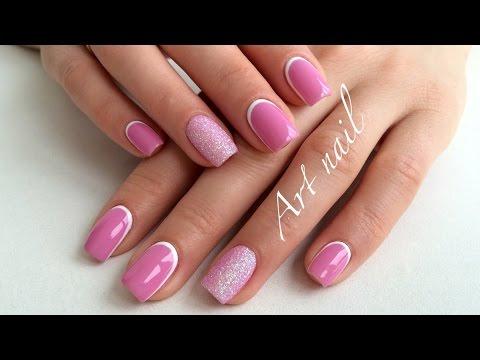 Лунный Маникюр! Обратный Французский Маникюр! Дизайн Ногтей Бархатный Песок!  Nail Art Designs