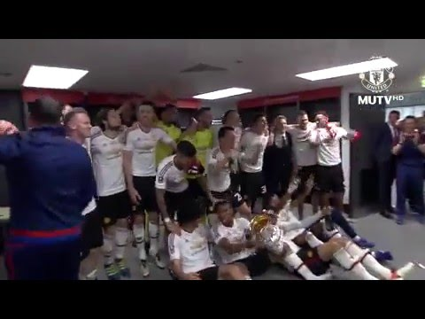 Manchester United dressing room celebration