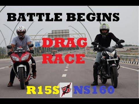 Drag Race | Apache160 vs pulsar ns 160 - Pahadi Riders