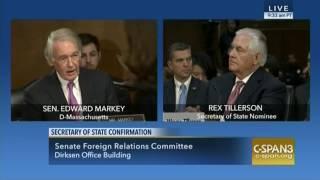 Senator Markey Questions Rex Tillerson, CEO ExxonMobil & Nominee Secretary of State - 1/11/17