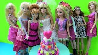 Cuộc Sống Của Barbie & Ken ( Tập 1) Làm Bánh Kem Cưới Play-Doh 3 Tầng (Chị Bí Đỏ)