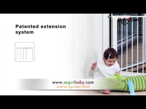 Extensiones de barreras de seguridad infantil Babydan