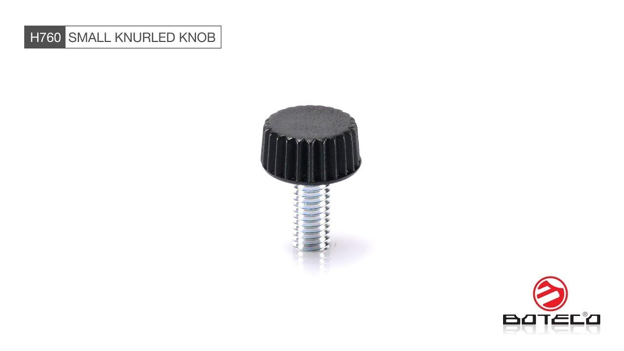 Knurled handwheel with threaded stud - Knurled Handwheels - Video - Boteco
