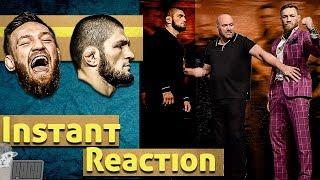 UFC 229 Khabib vs. McGregor Presser Reaction [Alpaca]
