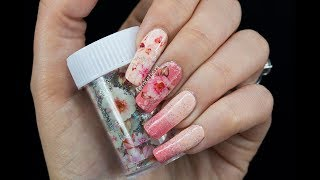 Nude To Dusty Pink Gradient & Floral Nailfoil - FemketjeNL
