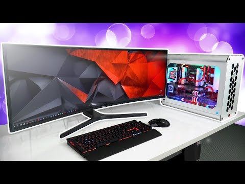 "Gaming on the Samsung 43"" SUPER Ultrawide Curved Monitor - CJ89"