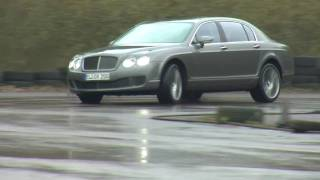 Bentley Continental Flying Spur - racing world's fastest limousine / schnellste Limousine der Welt