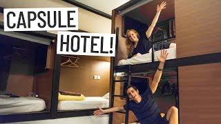SINGAPORE CAPSULE HOTEL EXPERIENCE! - Asia Travel Vlog