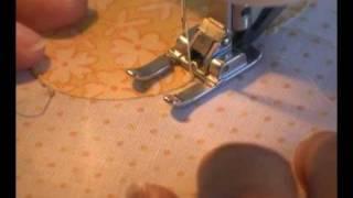 Satin Stitch Or Zig Zag Machine Applique Stitch