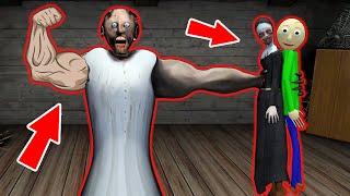 Granny Strong Vs Baldi Vs Evil Nun - Funny Horror Animation Parody (part 26)