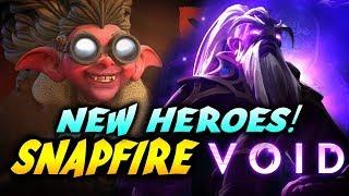VOID SPIRIT + SNAPRIFE - NEW HEROES - OUTLANDERS UPDATE DOTA 2