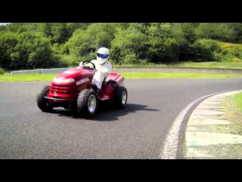 The Stig Drives a Lawnmower