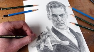 Drawing Doctor Who Peter Capaldi As The Doctor Time-Lapse Art