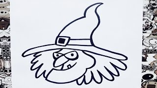 hmongbuynet  Como dibujar una bruja paso a paso 7  How to draw