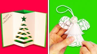 14 SIMPLE PAPER DECORATIONS FOR CHRISTMAS