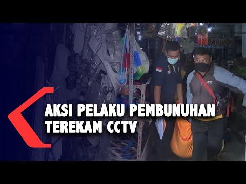 Aksi Pelaku Pembunuhan Terekam CCTV