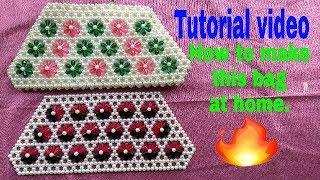 How to make beads bag at home 2018 ....new design beads bag