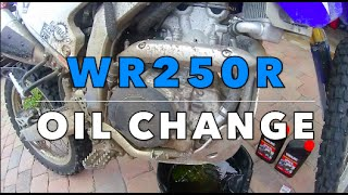 Yamaha WR250R Oil And Filter Change 2015