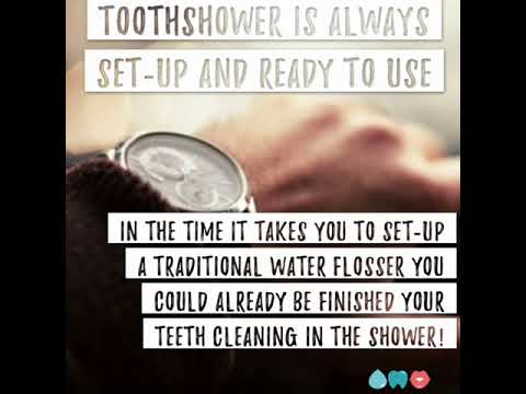 ToothShower is always set-up and ready to use
