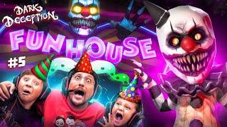 CLOWNS at my Birthday Party!  Crazy Carnival or CarnEVIL?? (FGTEEV plays Dark Deception #5)